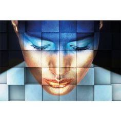 Alu art Girl Blue (120x180 cm) - Schilderijen concurrent