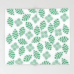 Floral green Throw Blanket