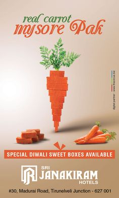 Meet the real #carrot #mysore_pak! Make this Festival of Lights more #sweeter with Srijanakiram Hotels Special Diwali Sweet Boxes. ✔ Special Offer for bulk booking. ✔ Door Delivery ( City Limit ) ✔ Gift Voucher Available Call for bulk booking - +91 999413636, +91 999423636  #srijanakiram #diwali #special #sweet #boxes #tirunelveli #halwa #nellai #Festival