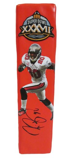 Ronde Barber signed Tampa Bay Buccaneers Rawlings football touchdown end zone pylon w/ proof photo.  Proof photo of Ronde signing will be included with your purchase along with a COA issued from Southwestconnection-Memorabilia, guaranteeing the item to pass authentication services from PSA/DNA or JSA. Free USPS shipping. www.AutographedwithProof.com is your one stop for autographed collectibles from Tampa sports teams. Check back with us often, as we are always obtaining new items.
