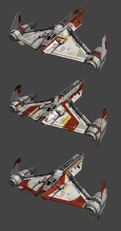 Star Wars X Wing Miniatures Game Republic Gunship paint jobs