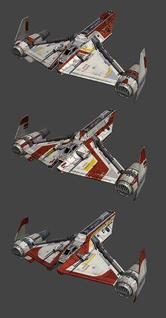 Republic Gunship paint jobs
