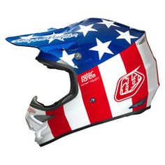 Troy Lee Designs Air Lite Motocross Helmet - Fonda Red White Blue - 2014 Troy Lee Motocross Helmets - 2014 Troy Lee Mx Gear -