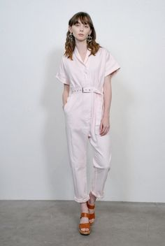 a095511e023 Rachel Comey Pitch Jumpsuit- Pink Chino Twill