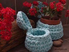 Tutorial trapillo, XXL crochet tutorial, crocheted basket