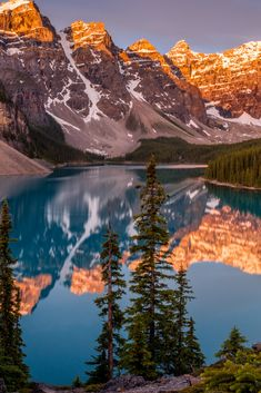 Moraine Lake is a glacially fed lake in Banff National Park, 14 kilometres outside the Village of Lake Louise, Alberta, Canada. It is situated in the Valley of the Ten Peaks, at an elevation of approximately 6,183 feet. The lake has a surface area of 50 hectares.