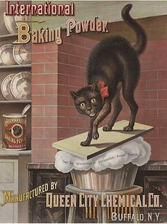 Dying for Chocolate: Black Cats in Vintage Baking Advertisements