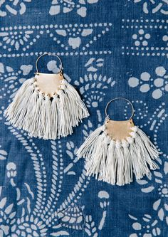 DIY: brass fringe earrings