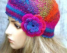 Tappo in fiore cap cappello caldo autunno Accessori di DosiakStyle