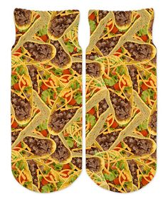 Love this Tacos Sublimated Ankle Socks - Kids on #zulily! #zulilyfinds