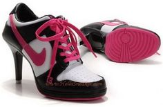 http://www.asneakers4u.com Nike Dunk Low High Heel White Black Pink K031512