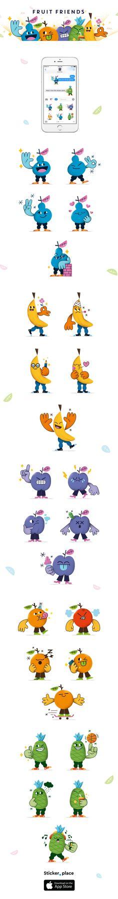 Fruit Friends Stickers on Behance