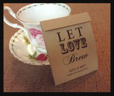 15 Personalised Tea bag Vintage Wedding favours/ Shabby Chic / afternoon tea | eBay