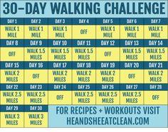 Walking Challenge with Printable Tracking Chart Walking Fitness Challenge Walking Challenge, Walking Plan, 30 Day Workout Challenge, Workout Schedule, Challenge Ideas, Challenge Group, Workout Plans, Walking Program, Thigh Challenge