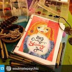 Love this photo @soulmatepsychic!・・・27th day of 100days of happiness. Consecrating my workbook during a new moon. Before my next healing client arrives.