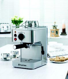 Russell Hobbs Espresso And Cappucino Maker Hobbs, Espresso Machine, Coffee Maker, Kitchen Appliances, Coffee Machines, Gadgets, Spaces, Bar, Espresso Coffee Machine