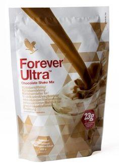 Forever Ultra - Deilig shake med fullverdig soyaprotein, viktige vitaminer og mineraler. Maksimalt med næring og minimalt med kalorier gjør at den passer like bra som måltidserstatning ved vektkontroll som til mellommåltid, proteintilskudd etter treningen eller når du helt enkelt har lyst på noe godt. Blandes med lettmelk (eller vann). Velg mellom to gode, naturlige smaker: vanilje eller sjokolade. Forever Ultra kan erstatte opp til to måltider pr. dag og fungerer utmerket som frokost…