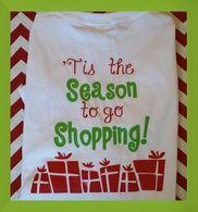 Tis the Season shopping tee on back