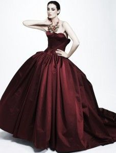 Oxblood Wedding Dress