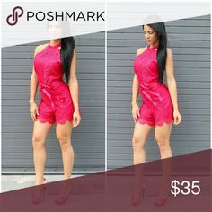 Romper Luxxel romper self: 100% nylon and Lining: 97% polyester and 3% spandex Other