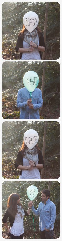 Save the Date Picture...we would have to make silly faces beside the balloon : )