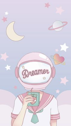Wallpaper espacial em tons pastéis by ♥ Dreamer Space Pastel Pink Aesthetic Anime 654921970797317672 Cartoon Wallpaper, Pink Wallpaper Anime, Pastell Wallpaper, Soft Wallpaper, Aesthetic Pastel Wallpaper, Kawaii Wallpaper, Cute Wallpaper Backgrounds, Aesthetic Wallpapers, Cute Wallpapers