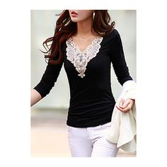 Style:Casual Collar:V Neck Sleeve Length:Long Sleeve Pattern Type:Solid Clothing Length:Regular Material:Cotton