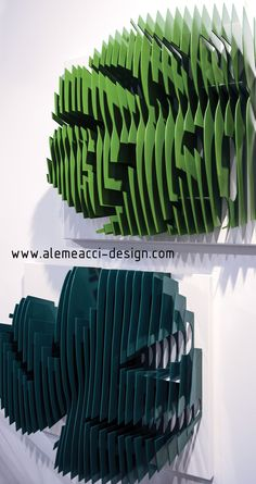Monstera Deliciosa becames a bookshelf : Urban-jungle design, to decorate the wall. Slices, by Alessandra Meacci