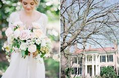 Glen Leven Farm, Nashville, Tennessee. A 65-acre farm just a stone's throw from downtown, this makes for an unforgettable escape. Here, a wonderful landscape surrounds a bold manor that makes every photo look historic and grand. Choose your adventure and have the wedding you always wanted, no problem. Photo Credit: Julie Paisley