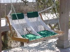 Enjoy a Relaxing Day at the Beach or Back Yard with a Handmade Hammock barnyardproduct