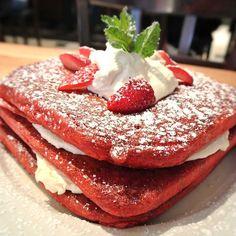 Red Velvet Pancakes @ Green Eggs Cafe (Philadelphia, PA)