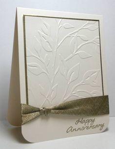 Happy Anniversary by die cut diva - clean & simple card!