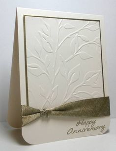 Happy Anniversary by die cut diva - clean & simple for Sympathy too
