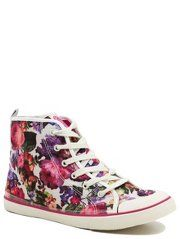 Floral High Top Trainers from George at Asda. Siena needs a little extra support around her ankles due to her bendiness. These won't completely sort it, but could be more comfortable and they look pretty too. #george #asda #hitops #trainers #pumps #sneakers #floral #retro #toddlers #kids #fashion