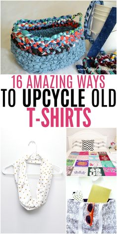 recycle clothes Amazing Ways to Upcycle Old T-Shirts Upcycle T Shirts, Diy Clothes Refashion, Diy Old Tshirts, Recycled Shirts, Recycled Clothing, Recycled Fashion, Tee Shirt Crafts, T Shirt Yarn, T Shirt Diy