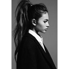 Hair Inspiration The High Pony ❤ liked on Polyvore featuring backgrounds, faces, hairstyles and pictures