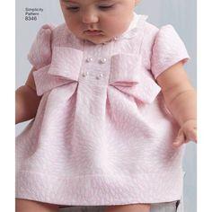 Simplicity Pattern 8346 Babies' Dress and Panties Baby Girl Dress Patterns, Dress Sewing Patterns, Little Girl Dresses, Girls Dresses, Baby Dress Pattern Free, Infant Dresses, Vintage Baby Dresses, Skirt Patterns, Coat Patterns