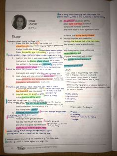 Power and Conflict Poems - Tissue by Imtiaz Dharker English Gcse Revision, Gcse English Language, Biology Revision, Revision Notes, Study Notes, English Literature Notes, Gcse Poems, Poem Analysis, Notebooks