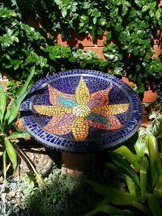Mosaic Bird Bath