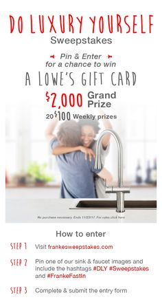 Kitchen remodel sweepstakes with Franke Fast-In sinks and faucets. #DLY #Sweepstakes #FrankeFastIn