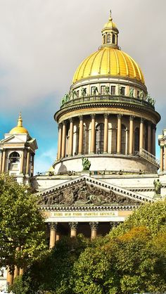 Saint Isaacs Cathedral, Saint Petersburg, Russia--This was just across from our hotel last summer, and we could see the dome from our room.