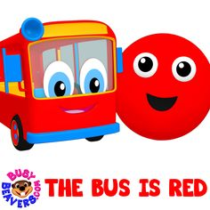 """Our Colorful Buses will Teach Toddlers Six Colors with the Catchy Melody from our hit """"The Apple is Red"""" ☺ http://bit.ly/Bus-is-Red-SG  #BusyBeavers #ColorsSong #ForKids"""