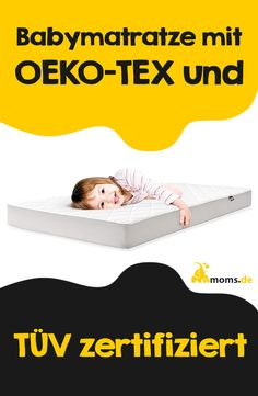 Eine wichtige Eigenschaft beim Kauf einer #Babymatratze ist definitiv, dass sie frei von schädlichen Chemikalien ist! eine TÜV Zertifizierung mit OEKO-TEX Standard ist hier natürlich das allerbeste für das Baby! Weitere Tipps beim Kauf einer Babymatratze sind unteranderem dass diese Luft durchlässig ist, und einfach zu reinigen ist! Baby Zimmer, Diy Inspiration, Baby Kind, Bassinet, Toddler Bed, Shopping, Bebe, Boy Or Girl, Mom And Dad