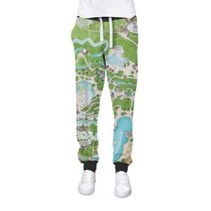 Blizzard Beach Map Cuffed Joggers Womens Sweatpants Jogging Bottoms