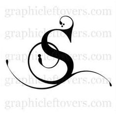 Elegant Letter S Totally Original Font And St