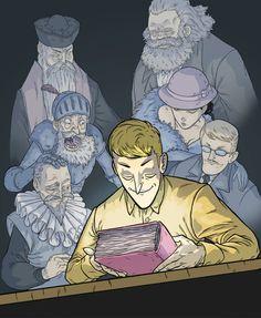 La revolución es para quienes leen. Revolution is for those who read.