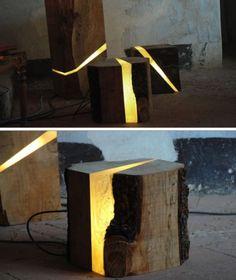 Creative wood lamp design