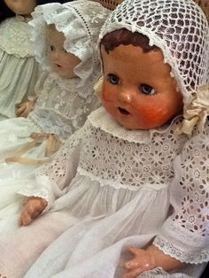 Composition baby dolls.
