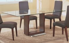 wood table bases | Captivating Glass Top Dining Table Wood Base With Cherry Wood Chair ...