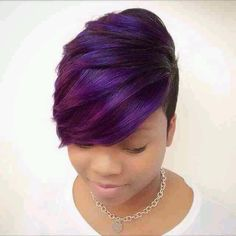 Purple and Blue Short Cut